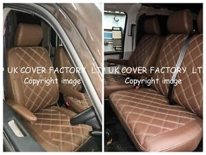 TAILORED FIT VAN SEAT COVERS  FIAT DUCATO PEUGEOT BOXER  WOODLAND BROWN 150WBRN