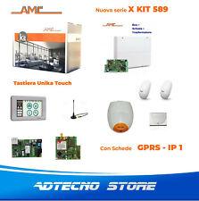 AMC Kit 589 Centrale 8/24 zone con Tastiera Unika e moduli GPRS - IP1