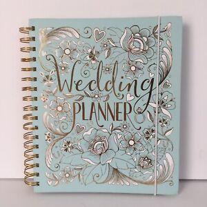 Wedding Planner Organizer Blue Green Diary Journal Engagement Gift Bridal Shower