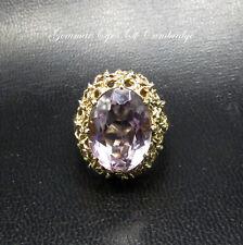 9 KT d'oro anelli con ametista vintage taglia M 1/2 7.1 G 9.2 KT