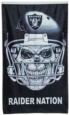 Oakland Raiders RAIDER NATION The Black Hole Flag 3x5 ft  Banner MAN CAVE DECOR