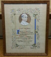 1964 Pope Paul VI Apostolic Blessing, Framed Hand Drawn Ink Signed Vatican Seal