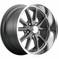 4 - 15x8 Gray Wheel US Mags Rambler U111 5x4.75 1