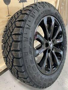 "Genuine Range Rover 502 20"" Black Alloy Wheels & Good Year Duratrac Tyres x4"
