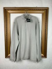 Eddie Bauer XL Tall 1/4 Zip Sweater Beige Tan Ribbed Mens Casual  New $55