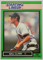 1989 STARTING LINEUP BASEBALL Will Clark Card NM Giants Rangers Orioles MLB