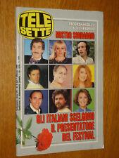 TELESETTE 1990/6=SABINA STILO=PIERLUIGI ZERBINATI CRAXI=MASSIMO TROISI=TELEMIKE=