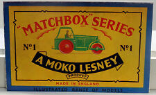 DTE EXCLUSIVE 1957 MOKO LESNEY MATCHBOX REGULAR WHEEL REPRODUCTION CATALOG