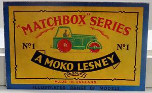 DTE EXCLUSIVE 1957 MOKO LESNEY MATCHBOX REGULAR WHEEL REPRODUCTION CATALOG