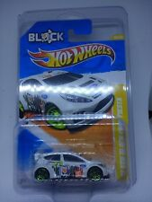 2011 Hot Wheels '11 KEN BLOCK FORD FIESTA * WHITE RALLY* BLACK BASE VARIATION!!