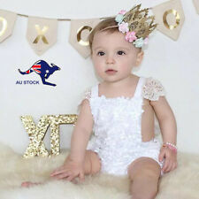 Dressy Formal Satin & Lace  Baby Romper Toddler Girl Clothes Summer Romper