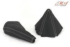Set: Handbrems- , Schaltmanschette [passend für Mazda MX-5 NA] Echtleder
