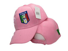 Italy Italian Italia Country Letters Flag Pink Hat Cap 3D embroidered