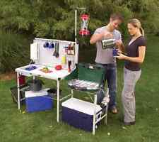 Portable Camping Sink Outdoor Camp Kitchen Sink Grill Food Prep Clean Up Table