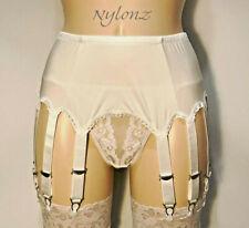 14 Strap Luxury Suspender Belt WHITE (Garter Belt) NYLONZ UK