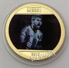 Football Soccer Superstar | Lionel Messi | Argentina 2018 | Gold Plated Coin
