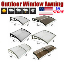 80''x 40''/ 120''x 40'' Front Door Window Awning Cover Patio Canopy Polycarbonat