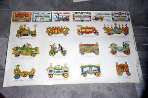 Evelyn Curro Circus Train Car Poster 1955