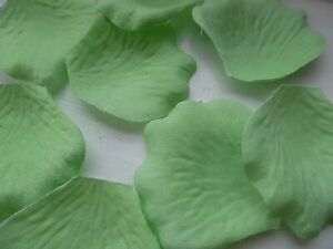 100 QUALITY THICK MINT GREEN rose PETALS/WEDDING/TABLE/CONFETTI/DECORATION
