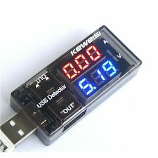 USB Current Voltage LED Tester indicator meter 2 Hubs  Shows Monitor 3V-9V