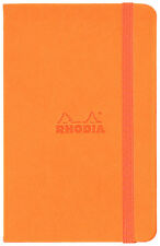 Rhodia #118078 Webnotebook, 3-1/2 x 5-1/2, Orange Cover, Blank