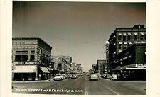 South Dakota, Sd, Aberdeen, Main Street Real Photo Postcard