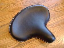 BLACK  HARLEY SOLO SEAT KNUCKLEHEAD PANHEAD WL 45 RIGID FRAME