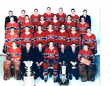 1966 CHAMPIONS MONTREAL CANADIENS 8X10 TEAM PHOTO HOCKEY NHL STANLEY CANADA