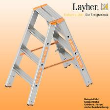 Layher Alu Stufenstehleiter, 2x4 Stuf., L=1,00m, Bockleiter, Topic Typ 1043.004