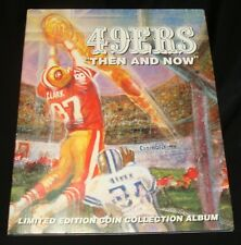 1994-95 SAN FRANCISCO 49ERS LIMITED EDITION COIN COLLECTION ALBUM with 20 COINS