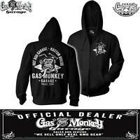Official Gas Monkey Garage Hot rod Zip Hoodie Fast N Loud GMG Tourch & Hammer