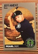 PEARL JAM - Jeff Ament  Baseball BAT CARD - Seattle 2018 home shows trading