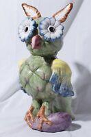 Intrada Italy Vegetable Owl Figurine Rare Bird Art Pottery