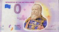 BILLET 0  EURO NETHERLANDS MONARCHS WILLEM III  COULEUR  2019  NUMERO DIVERS