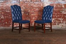 Stunning Blue Carver Dining Chairs