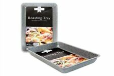 Non Stick Oblong Roasting Tray Carbon Steel Marble High Quality Kitchen Bakeware