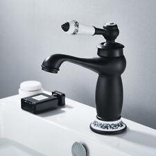 Retro Black Oil Bathroom Basin Sink Mixer Faucet Single Ceramic Handle Brass Tap