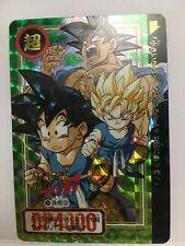 DRAGON BALL Z BANDAI RARE CARD PRISM CARDDASS #5 GOKU JAPAN ORIGINAL