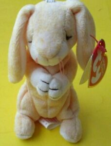 TY Basket Beanies Grace Praying Bunny 2001 with tag never played with 4 inches