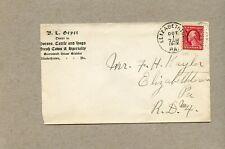 B. L. Geyer, Elizabethtown, Pa. To Deodate, Pa. (Cds On Backside) . (1912)