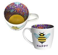 Mug ~ Ceramic Tea/Coffee ~ Inside Out Mug ~ (Bee) HAPPY