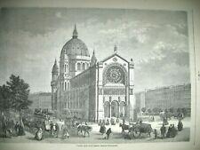 PARIS PALAIS ROYAL SALLE DE BAL ESCALIER EGLISE SAINT AUGUSTIN GRAVURES 1872