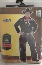 Outlaw Cowboy Sheriff Adult Plus Complete Costume Coplay, Role Play, Halloween