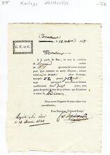 Dépt 11- Carcassonne - Transports (Roulage) pour Pièce de Fromage du 12/12/1833