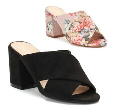 NEW Apt 9 Motivated Women's Block Heel Sandals Slip On size 8.5, 9.5, 10