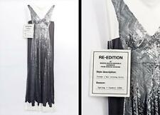 Maison Martin Margiela h&m Sequin Trompe l'æil print long dress UK12 US8