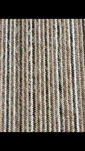 STAIR OR HALL CARPET RUNNER Brown Cream White design made to measure any size