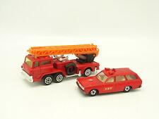 Tomica et divers 1/60 - Nissan Cedric Van Pompiers  + Grande Echelle