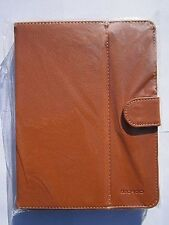 "Brown Multi Angle Leather Case Stand for 8"" Coby Kyros MID8042 Android Tablet"
