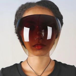 Fashion Gradient Anti-Fog Shade MASK Glasses Safety Face Cover Shield Sunglasses